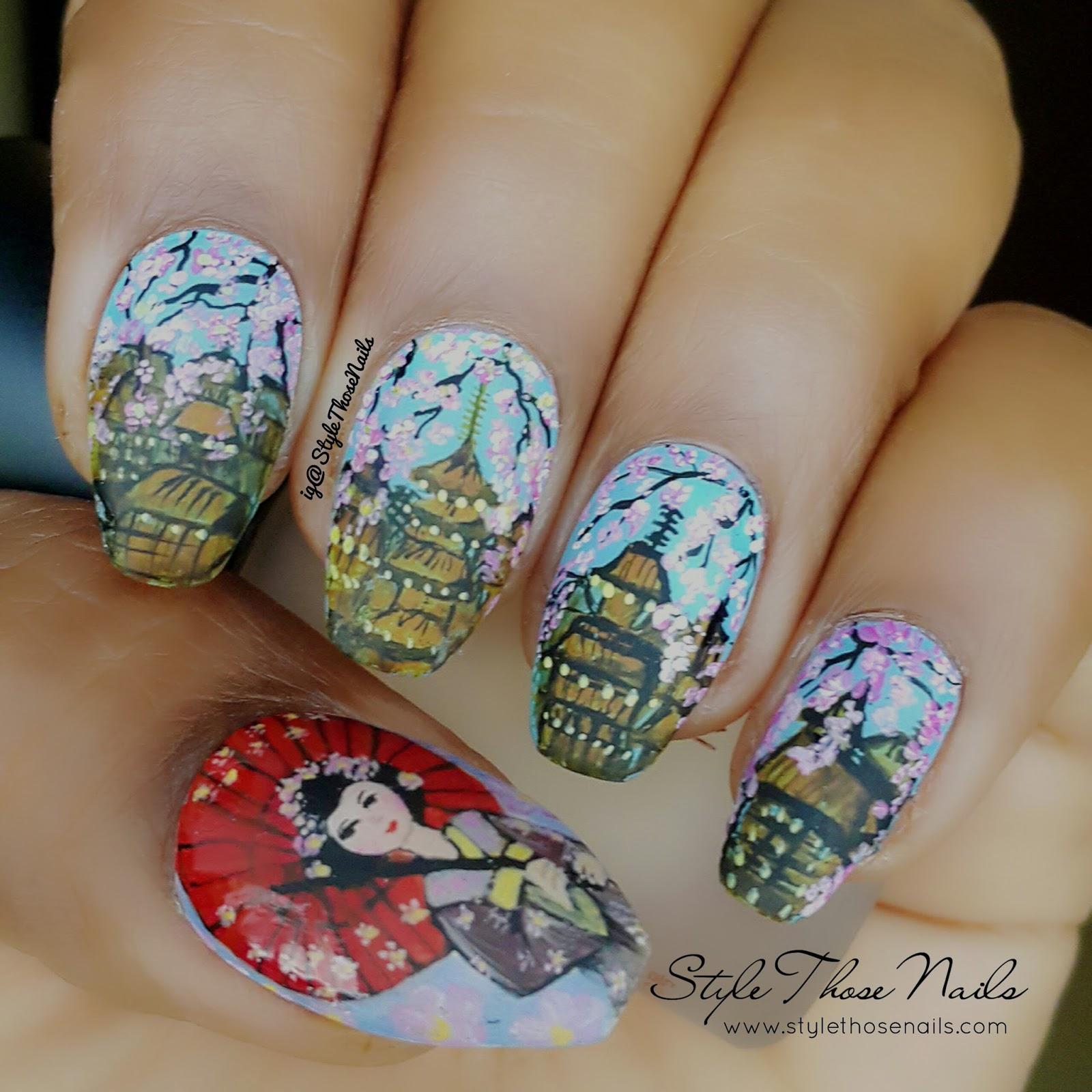 Style Those Nails: Geisha and Cherry Blossom Nail Art - Spring Nails ...