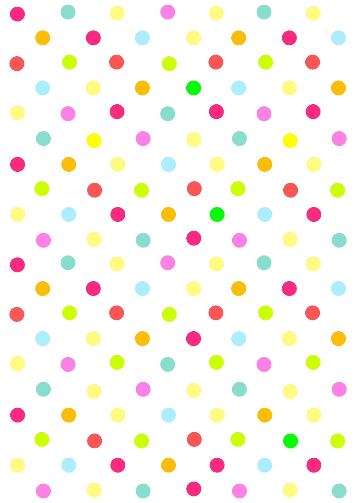 Feuille A4 Couleur Free Digital Multicolored Polka Dot Scrapbooking Paper
