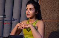 Actress Catherine Tresa Pos during Self Dubbing for Gautham Nanda Movie  0012.JPG