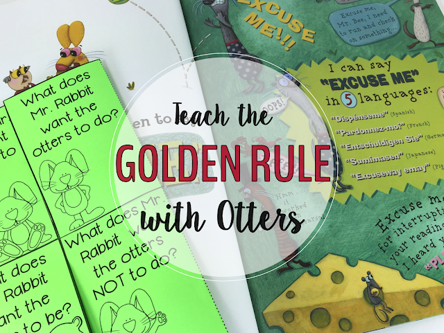 'Do Unto Otters' by Laurie Keller is an all-time favorite back-to-school book!  This story will inspire your new students to follow the Golden Rule, which in turn with foster a safe, caring classroom community from the start.  A free book companion is available for download.