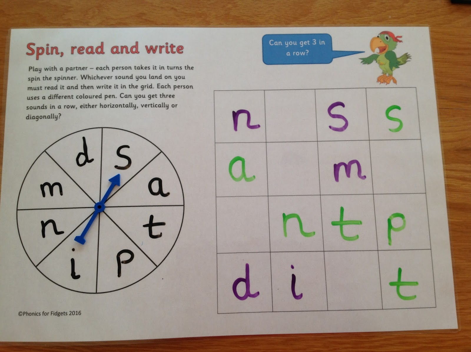 Phonics For Fidgets With Felix Spin Read And Write