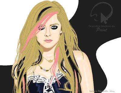 Desenho da Avril Lavigne no Paint