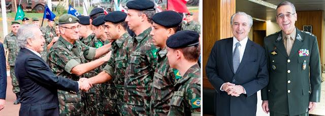 Temer devolve aos militares poderes que a comunista e ex-guerrilheira bulgará Dilma retirou