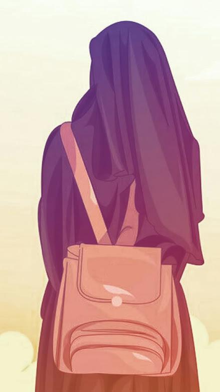 Gambar kartun muslimah berhijab syar'i