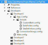 Developer specific configuration