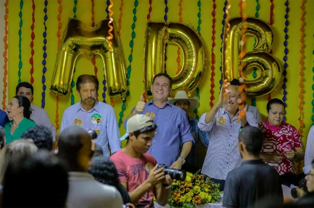 Maurão de Carvalho inaugura comitê MDB