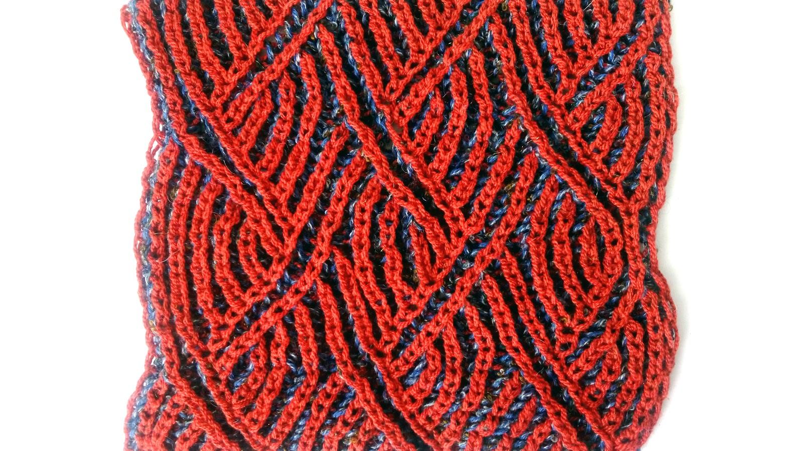 Zigzag Scarf - Brioche Knitting