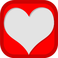 heart social button