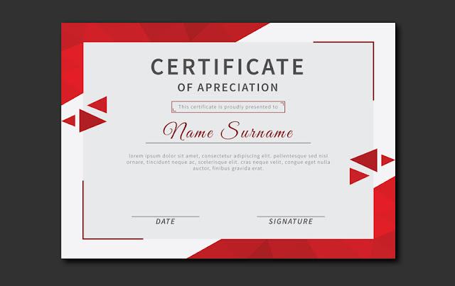 Cara membuat Sertifikat atau Piagam Penghargaan Kegiatan Resmi