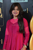 Monal Gajjar in Maroon Gown Stunning Cute Beauty at IIFA Utsavam Awards 2017 008.JPG