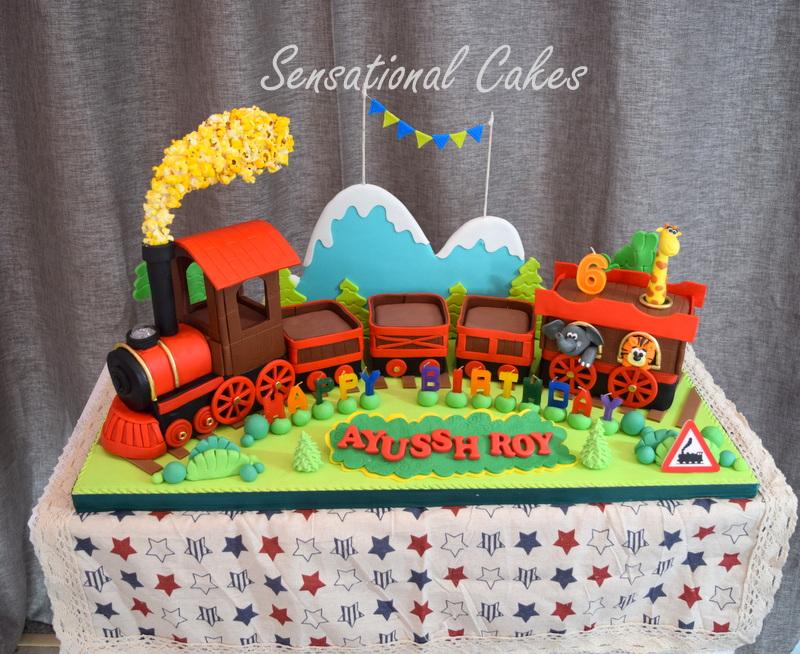 3D Train With Animals For Boy Birthday Cake Singapore Train3DCake Animalcake