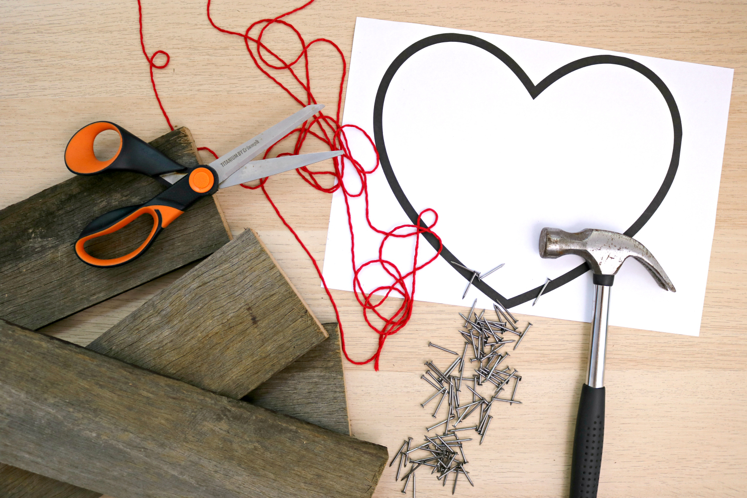 Southern in law how to make string art using recycled wood an easy before you can do anything youll need to get all of your bits and pieces together baditri Image collections