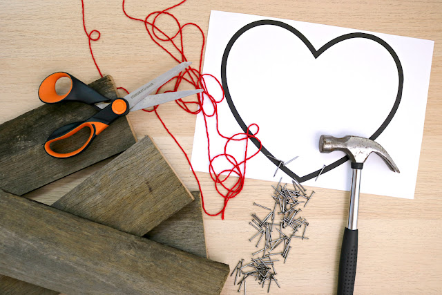 DIY Heart String Art Tutorial - What You Need to Make String Art on Recycled Pallet Wood Boards