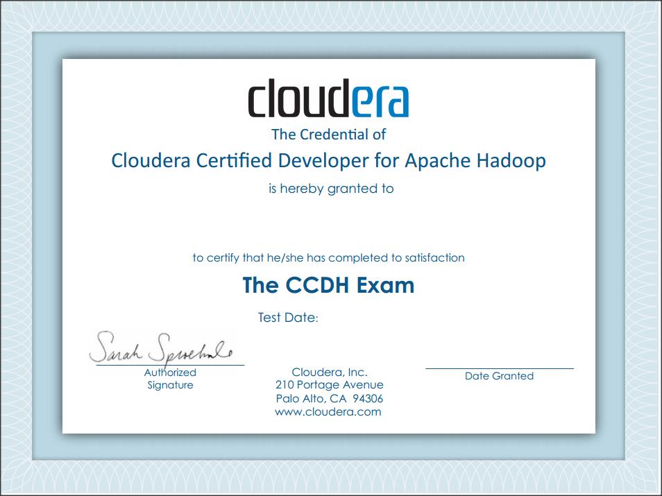 cloudera certification ccd hadoop sai