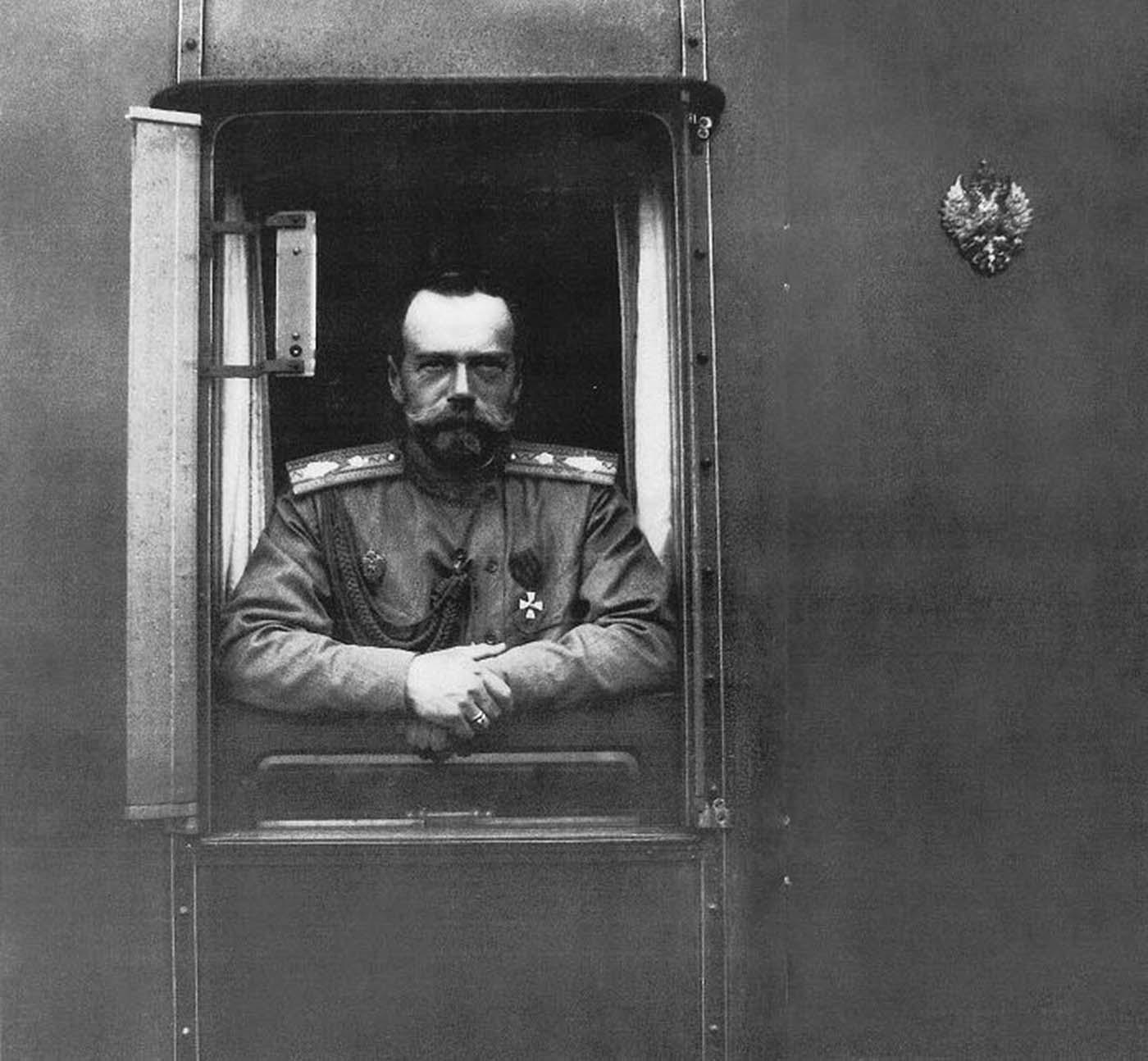 Emperor Nicholas II on board the Imperial Train