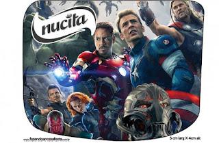 Etiqueta Nucita de Vengadores para imprimir gratis.