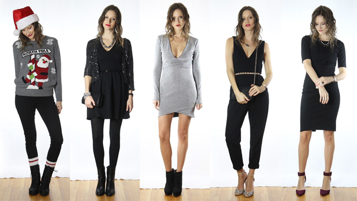 Vancouver Fashion Blogger, Alison Hutchinson, in a lookbook video featuring 5 different outfit options for holiday parties
