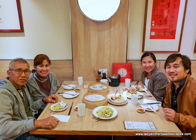 family feast at Din Tai Fung Taipei