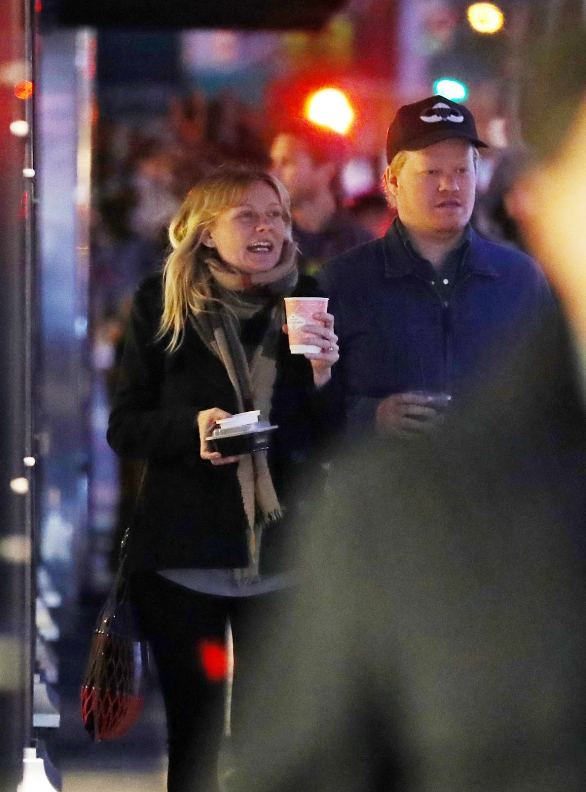 Photos of Kirsten Dunst enjoying coffee with Jesse Plemons Night Out in New York