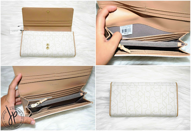 white long wallet with multiple card slots