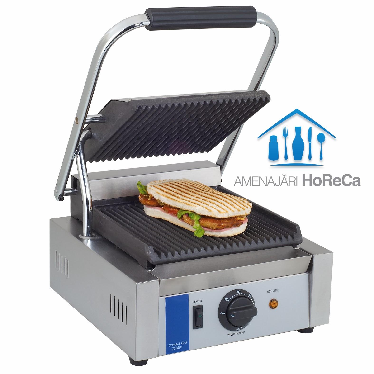 Grill electric profesional, model simplu, utilaj fast food, profesional