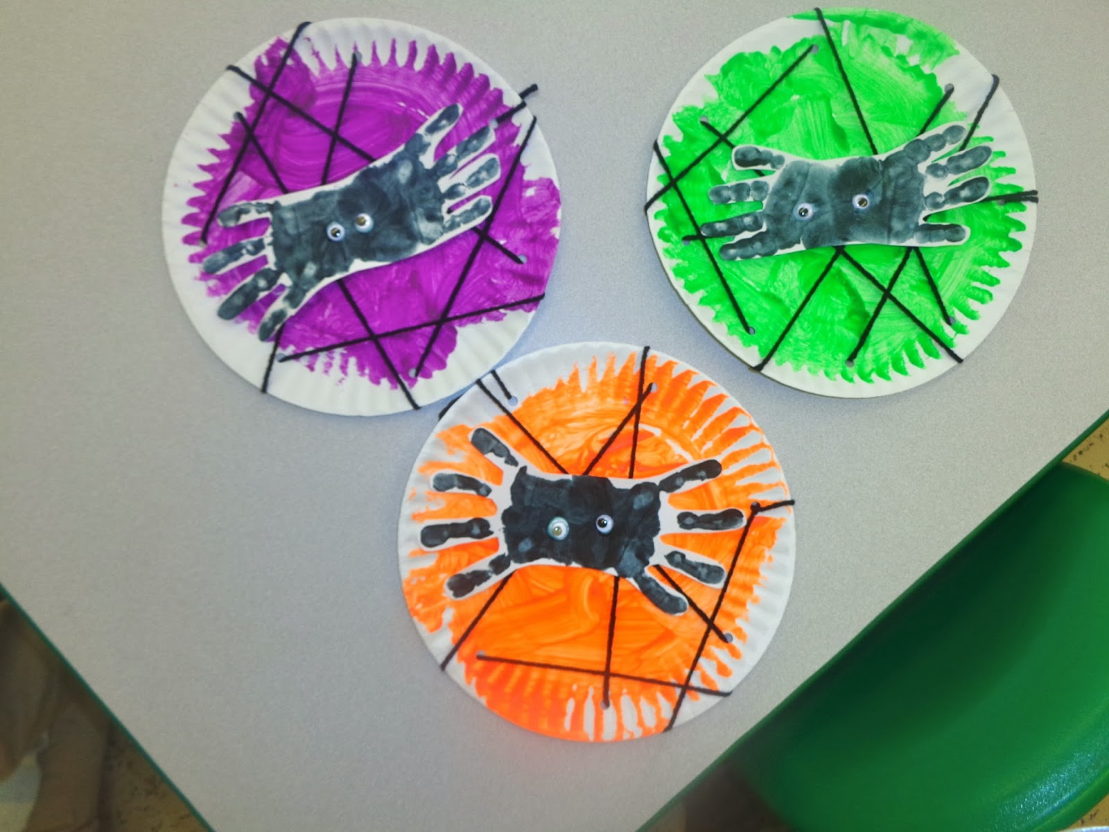 Terrific Preschool Years Handprint Spider And Lacing Web