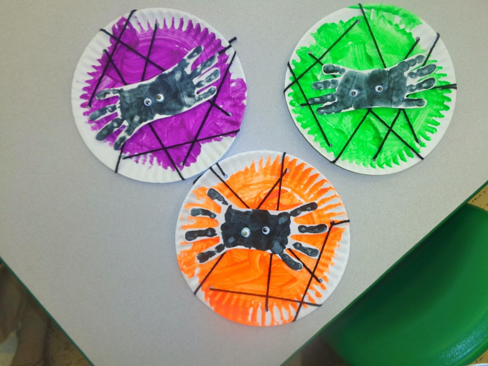 Terrific Preschool Years Handprint Spider And Lacing Web