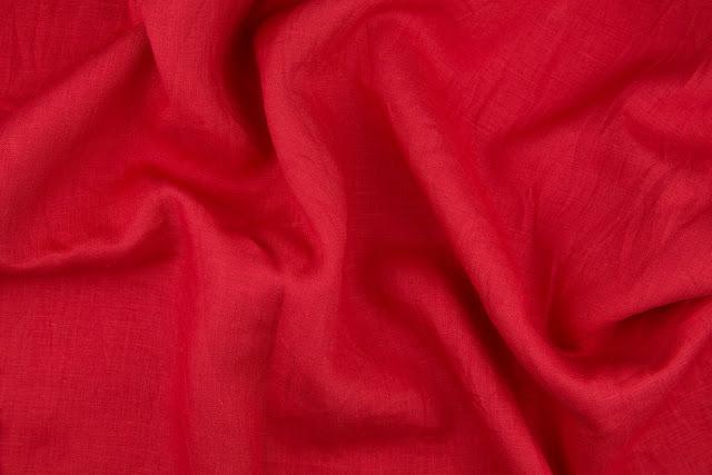 English Red Handkerchief Linen Fabric