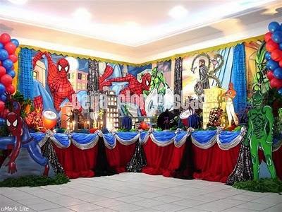 Como decorar festa aniversário com tema do Homem Aranha
