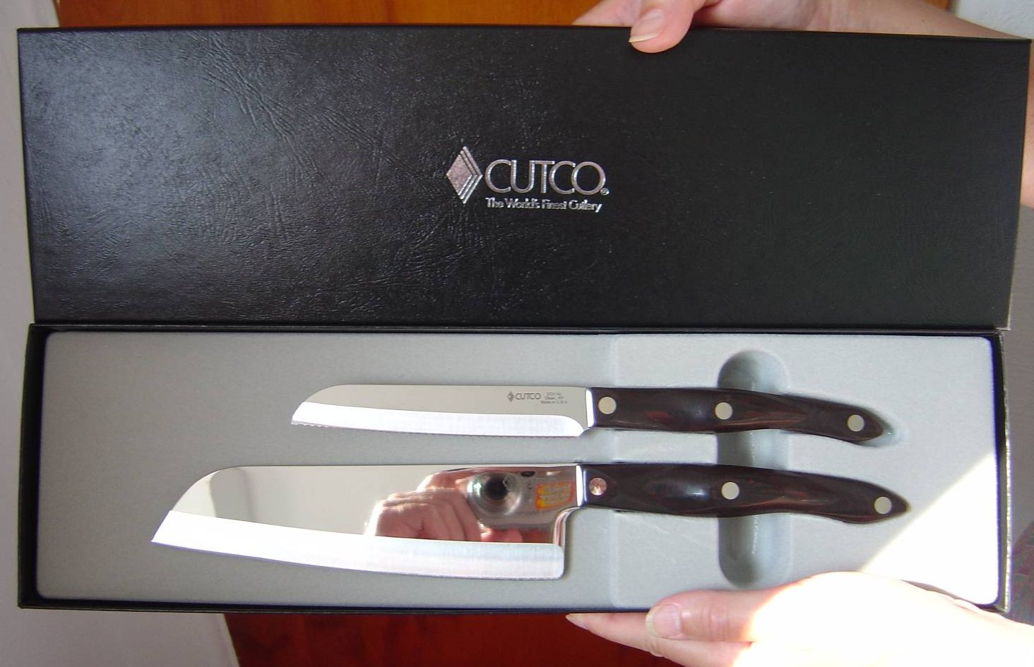 CUTCO Cutlery AMERICAN MADE Santoku-Style Cook's Combo Set