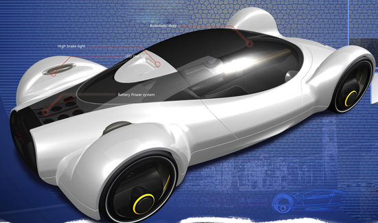 Solar Powered Touchdown Concept Car