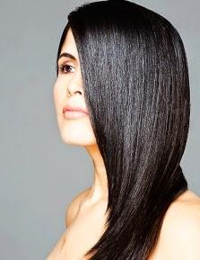 cara membuat rambut hitam berkilau dengan bahan alami