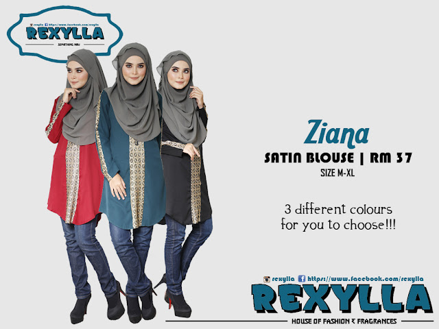 rexylla, satin blouse, ziana collection