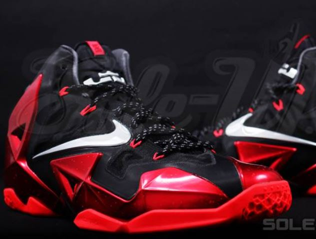 online store 55907 a6a41 Nike Lebron 11 XI Miami Heat Away Sneaker (Detailed New Images)