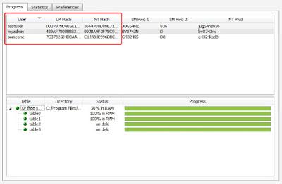 Łamanie haseł Windows - Ophcrack