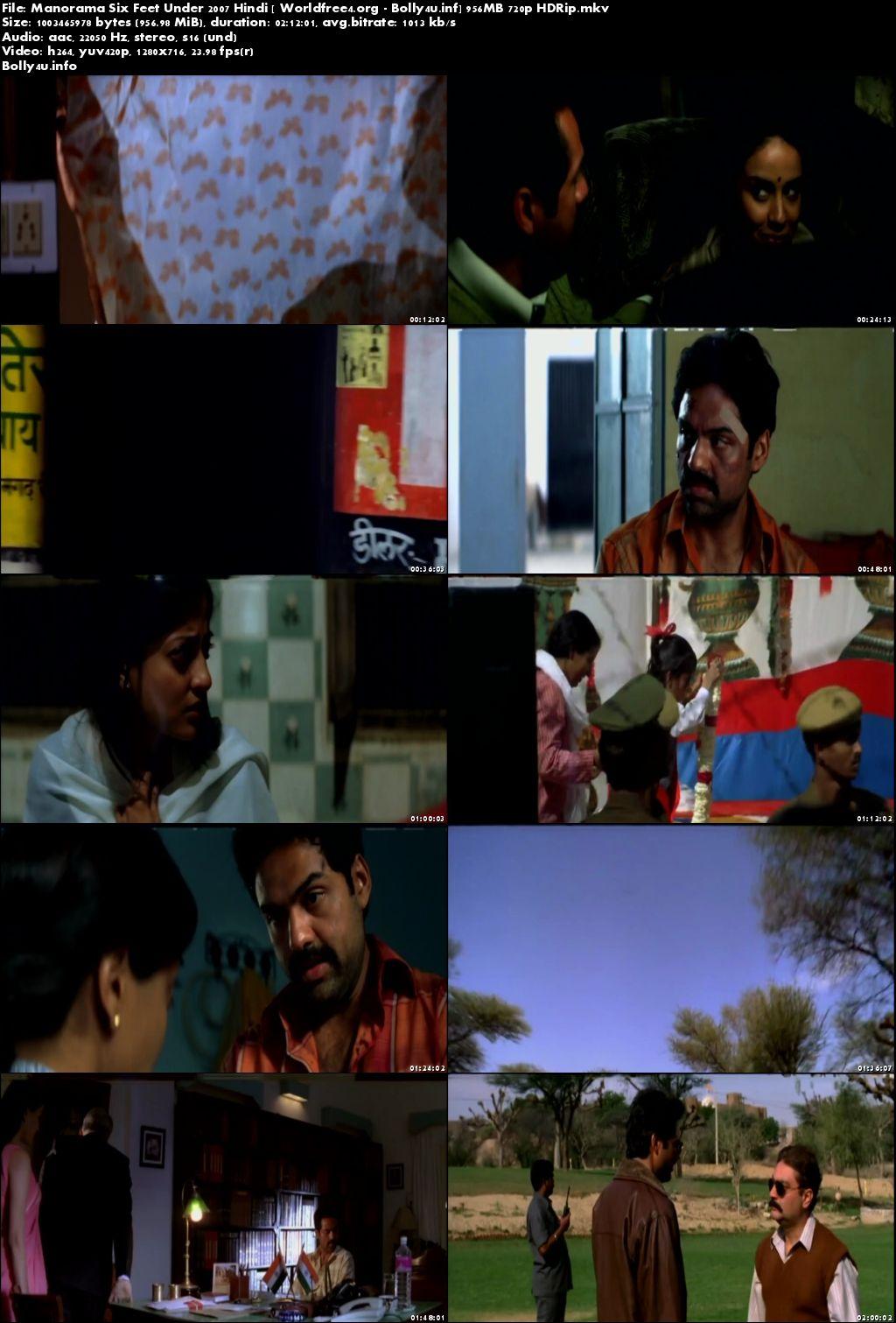 Manorama Six Feet Under 2007 HDRip 350MB Hindi Movie 480p Download