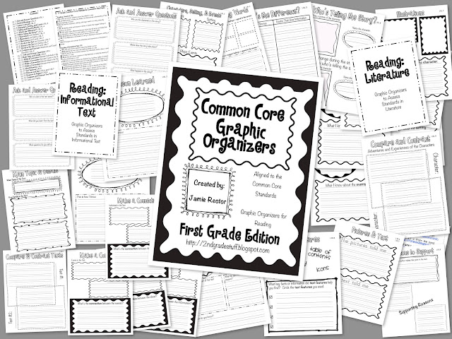 2nd Grade Stuff: Common Core Graphic Organizers: 1st Grade