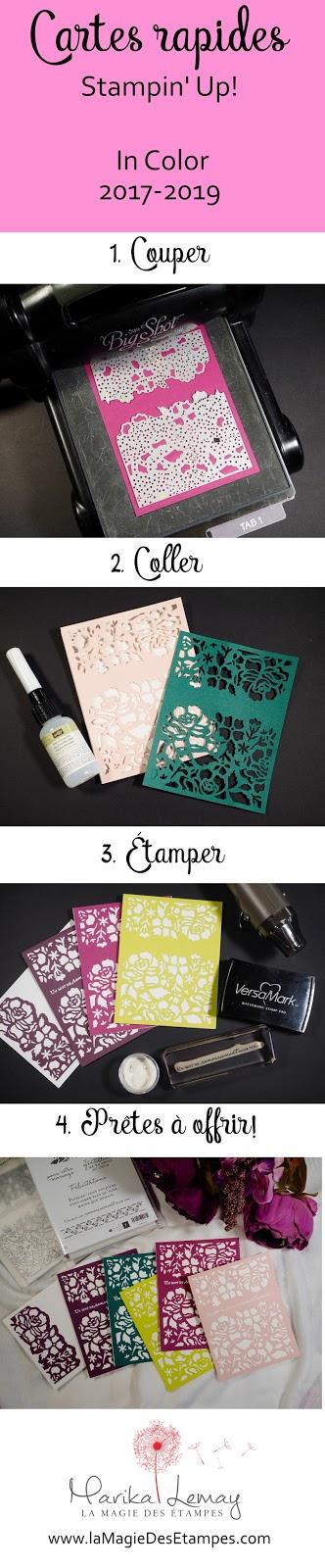 ensemble de cartes avec les thinlits Fleurs ouvragées / détail floral Stampin' Up!