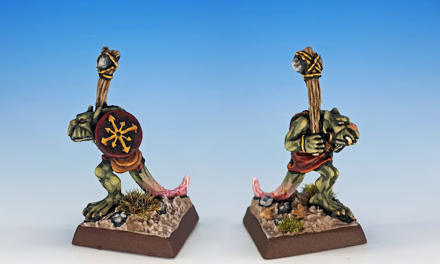 Hopper, Citadel C27 Chaos Goblin Mutant, sculpted by the Perry Bros, 1984