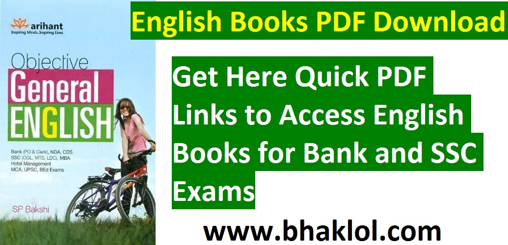 English Books PDF Download | Free Download For Bank & SSC Exams