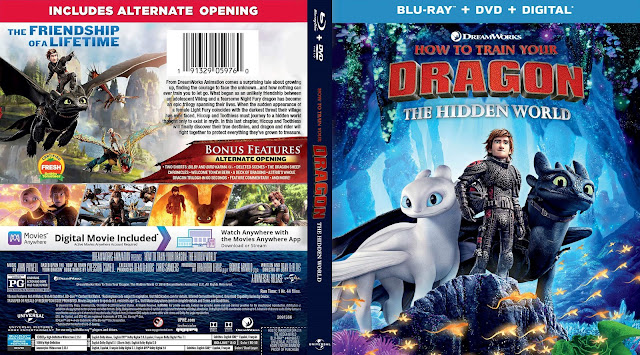 How to Train Your Dragon: The Hidden World Bluray Cover