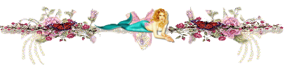 flowery mermaid text divider