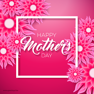 beautiful happy mother's Day Greetings with flowers frames