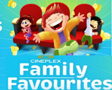Cineplex Odeon Family Favourites $2.99 Admission