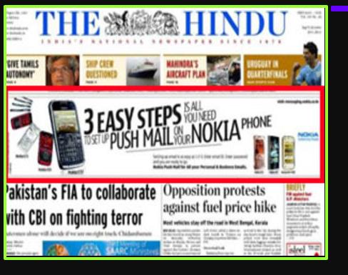 Newspaper ad Digital Marketing strategy