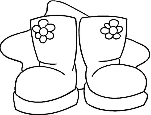 coloriage bottes d'hiver