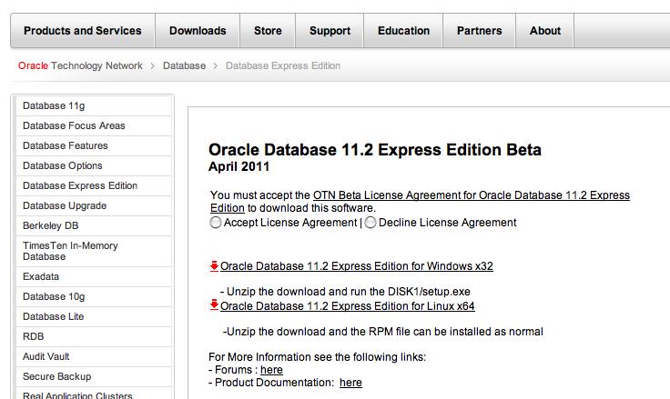 oracle database xe для windows эффективное использование