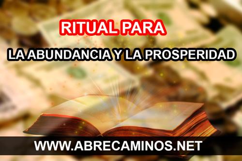 abundancia prosperidad ritual hechizo conjuro