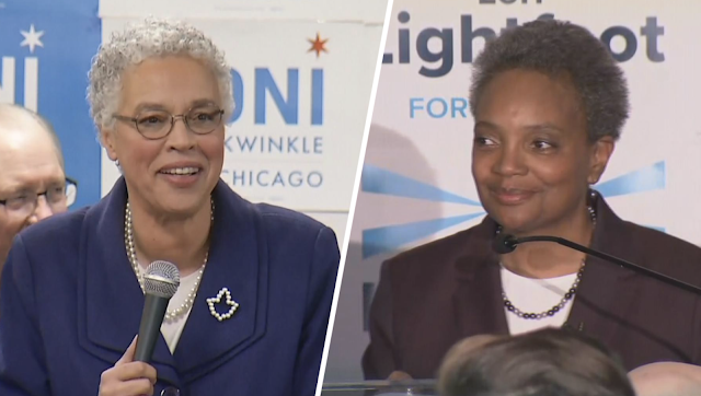 Chicago poised to elect first African-American female mayor as Lori Lightfoot and Toni Preckwinkle face each other in April runoff