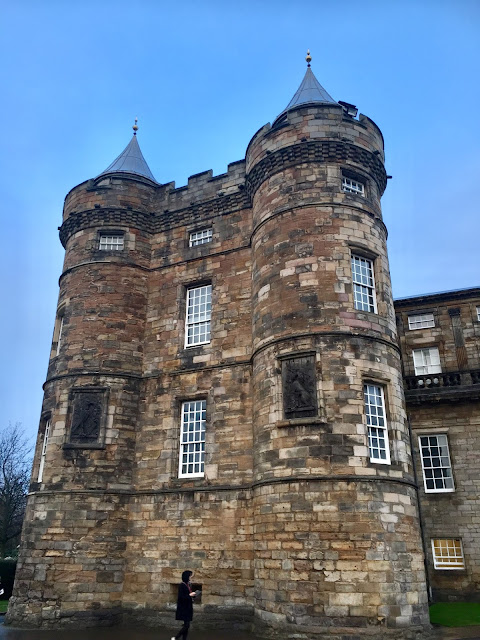 North west tower of the Palace of Holyrood House, Edinburgh, Scotland